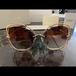 Elie Saab ES 043/S J5G Gold/Brown Sunglasses New